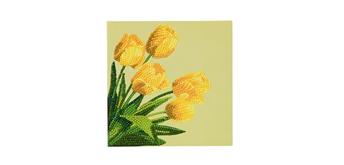 "Crystal Art Card Kit ""Spring Tulips"" 18 x 18 cm"