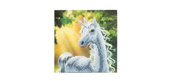 "Crystal Art Card Kit ""Sunshine Unicorn"" 18 x 18 cm"