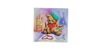 "Crystal Art Card Kit ""Teddy Crystal Artist"" 18 x 18 cm"