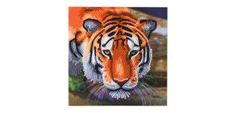 "Crystal Art Card Kit ""Tiger"" 18 x 18 cm"