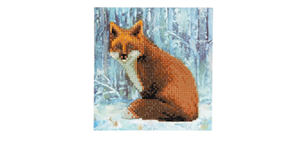 "Crystal Art Card Kit ""Winter Fox"" 18 x 18 cm"