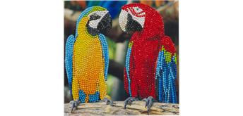 Crystal Art Card Parrot Friends 18 x 18 cm