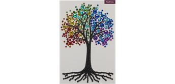 Crystal Art Card Rainbow Tree 10 x 15 cm