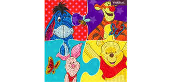 Crystal Art Card Winnie The Pooh Puzzle 18 x 18 cm