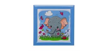 """Crystal Art """"Elephant"""" Bilderrahmen 16 x 16 cm"""