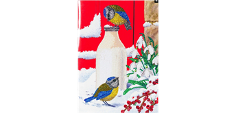 "Crystal Art Giant Card Kit ""Birds Milkshake"" 21 x 29 cm"