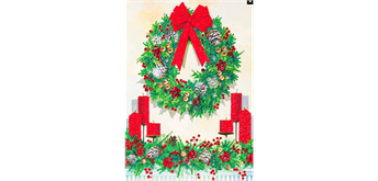 "Crystal Art Giant Card Kit ""Festive Wreath"" 21 x 29 cm"