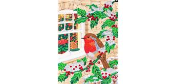 "Crystal Art Giant Card Kit ""Robin at the Window"" 21 x 29 cm"