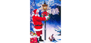 "Crystal Art Giant Card Kit ""Santa's Walk"" 21 x 29 cm"