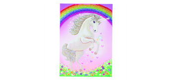"Crystal Art Giant Card Kit ""Unicorn Rainbow"" 21 x 29 cm"