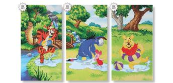 Crystal Art Kit 3 units of 3 Disney triptych designs