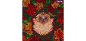 "Crystal Art Kit ""Autumn Hedgehog"" 30 x 30 cm, mit Rahmen"