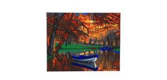 "Crystal Art Kit ""Autumn River"" 40 x 50 cm"