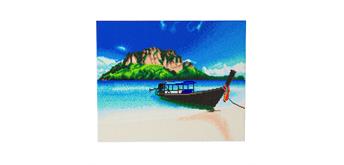 "Crystal Art Kit ""Beach Boat"" 40 x 50 cm, mit Rahmen"