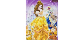 "Crystal Art Kit ""Beauty and the Beast Medley"", 40 x 50 cm, mit Rahmen"