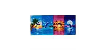 "Crystal Art Kit ""Day of the Dolphin"" Kit, 40 x 90 cm"