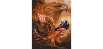 "Crystal Art Kit ""Eagle Sky"" 40 x 50 cm, mit Rahmen"