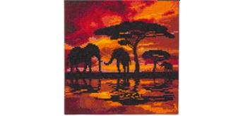 "Crystal Art Kit ""Elephant Silhouette"" 30 x 30 cm, mit Rahmen"