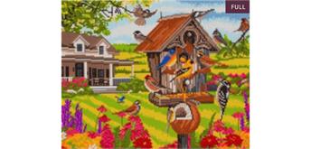 "Crystal Art Kit ""Garden Birds"" 40 x 50 cm, mit Rahmen"