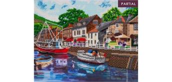 "Crystal Art Kit ""Harbour"" 40 x 50 cm, mit Rahmen"