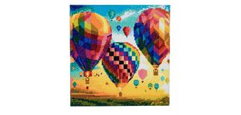 "Crystal Art Kit ""Hot Air Ballon"" 30 x 30 cm, mit Rahmen"