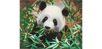 "Crystal Art Kit ""Hungriger Panda"" 40 x 50 cm, mit Rahmen"