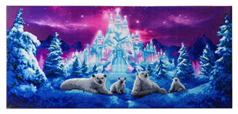"Crystal Art Kit ""Ice Kingdom"" Kit, 40 x 90 cm, mit Rahmen"