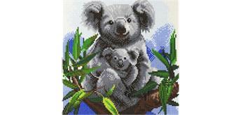 """Crystal Art Kit """"Koalas"""" 30 x 30 cm, mit Rahmen"""