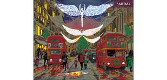 "Crystal Art Kit ""London Xmas Lights"" LED - 40 x 50 cm, mit Rahmen"