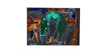 "Crystal Art Kit ""Magical Cats, 90 x 65 cm, mit Rahmen"