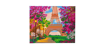 "Crystal Art Kit ""Paris in Spring"" 40 x 50 cm, mit Rahmen"