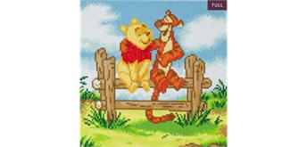 "Crystal Art Kit ""Pooh and Tigger"" 30 x 30 cm, mit Rahmen"
