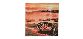 "Crystal Art Kit ""River Boat"" 30 x 30 cm, mit Rahmen"