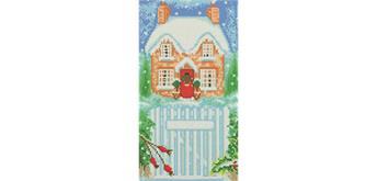 """Crystal Art Kit """"Snowy House 2"""" 40 x 22 cm"""