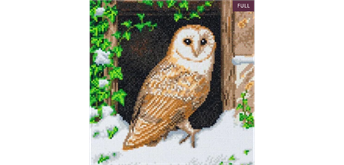 "Crystal Art Kit ""Snowy Owl"" 30 x 30 cm, mit Rahmen"