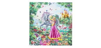 "Crystal Art Kit ""The Princess & The Unicorn"" 30 x 30 cm, mit Rahmen"