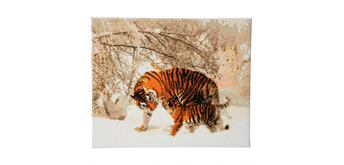 "Crystal Art Kit ""Tiger im Winter"" 40 x 50 cm, mit Rahmen"