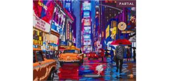 """Crystal Art Kit """"Times Square"""" 40 x 50 cm, mit Rahmen"""