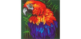 """Crystal Art Kit """"Tropischer Vogel"""" 30 x 30 cm, mit Rahmen"""