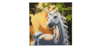 "Crystal Art Kit ""Unicorn"" 30 x 30 cm, mit Rahmen"