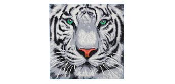 """Crystal Art Kit """"Weisser Tiger"""" 30 x 30 cm, mit Rahmen"""