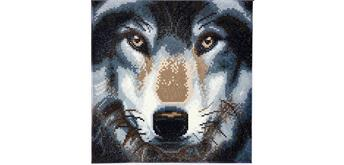 "Crystal Art Kit ""Wolf"" 30 x 30 cm, mit Rahmen"