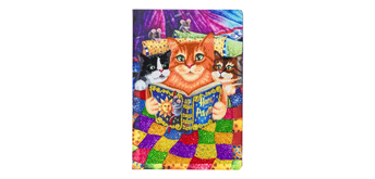 "Crystal Art ""Kitten Bedtime"" Notizbuch Kit, 26 x 18 cm"