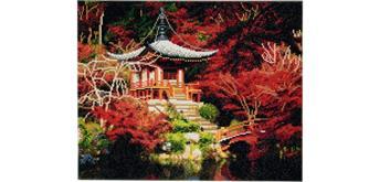 Crystal Art Leinwand Japanischer Tempel 40 x 50 cm