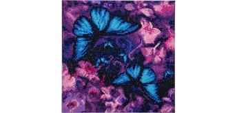 Crystal Art Leinwand Schmetterlinge 30 x 30 cm
