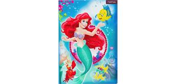 "Crystal Art ""Little Mermaid"" Notizbuch Kit, 26 x 18 cm"