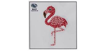 "Crystal Art Motif Kit ""Flamingo"" with tool"