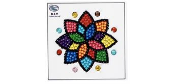 "Crystal Art Motif Kit ""Mandala"" with tool"