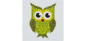 "Crystal Art Motif Kit ""Owl"" with tool"