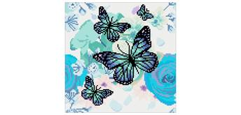 Crystal Art Orchids & Butterflies Kit, 30 x 30 cm, Framed Kit, 30 x 30 cm